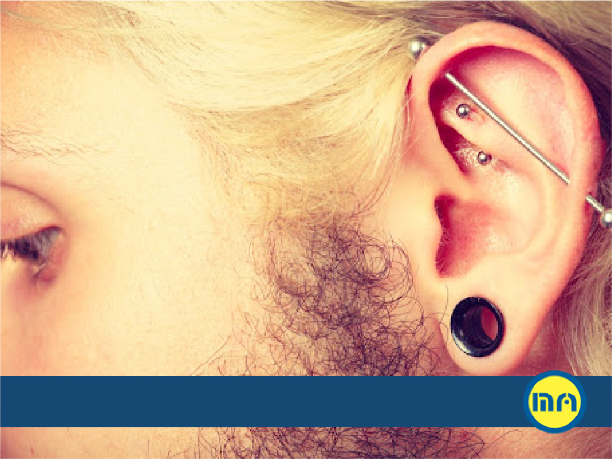 How to know if you can get an industrial piercing, industrial bar piercing, industrial piercing jewelry, process, infection